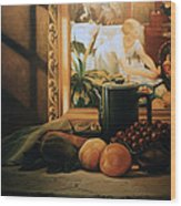 Still Life With Hopper Wood Print