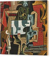 Still Life With Matchbox And Violin Wood Print