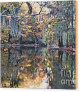 Still Waters - Autumn Reflections Wood Print