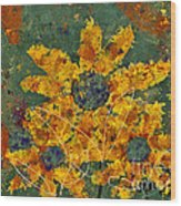 Stimuli Floral - S04ct01 Wood Print by Variance Collections
