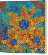 Stimuli Floral -s01t01 Wood Print