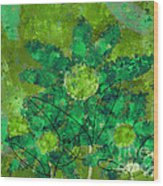 Stimuli Floral -s11bt01 Wood Print by Variance Collections