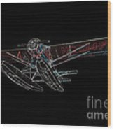 Stinson Sr Reliant Float Plane Wood Print