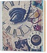 Stitch In Time Wood Print