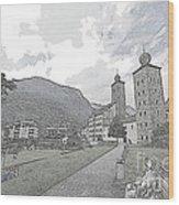Stockalper Castle Wood Print