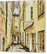 Stockholm Old City Wood Print by Yury Malkov