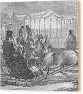 Stockholm: Sleighing, 1850 Wood Print