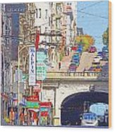Stockton Street Tunnel In San Francisco . 7d7355 Wood Print by Wingsdomain Art and Photography