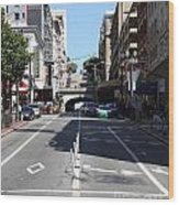 Stockton Street Tunnel In San Francisco Wood Print