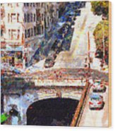 Stockton Street Tunnel San Francisco . 7d7499 Wood Print by Wingsdomain Art and Photography