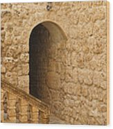 Stone Arch And Stairway Wood Print