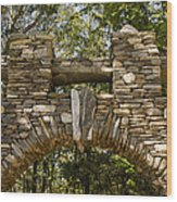 Stone Archway At The Entrance Wood Print by Todd Gipstein