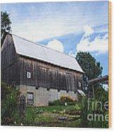 Stone Cottage Barn Wood Print