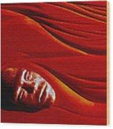 Stone Face Mahogany Wood Print by Charles Dancik