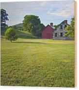 Stone Farmhouse In Vermont Wood Print