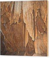 Stone Fold Elegance Wood Print