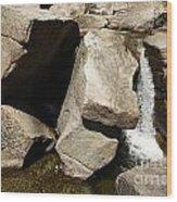 Stone Fountain Wood Print