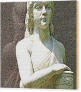 Stone Girl Wood Print