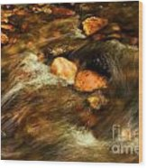 Stone Mountain River Rocks Wood Print