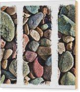 Stone Triptych 3 Wood Print