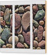 Stone Triptych Wood Print