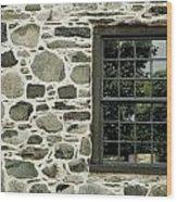 Stone Wall With A Window Wood Print