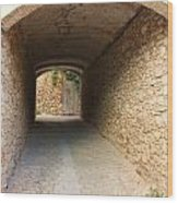 Stoned Tunnel Wood Print