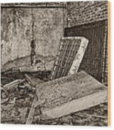 Stonehaven Rehab Sepia Wood Print