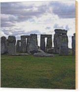 Stonehenge - Overcast Wood Print