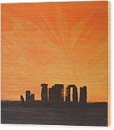 Stonehenge At Sunrise Wood Print