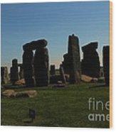 Stonehenge England Wood Print