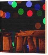 Stonehenge In Starry Night Wood Print