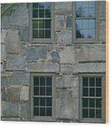 Stonehouse Windows Wood Print