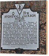 Stonewall Jackson House Wood Print by Todd Hostetter