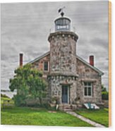 Stonington Lighthouse Museum Wood Print