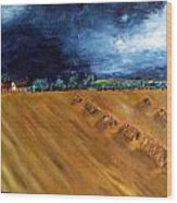 Stooks At Winkleigh Wood Print by Sandy Wager