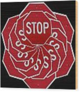 Stop Sign Kalidescope Wood Print
