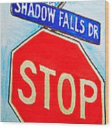 Stop Sign Sketchbook Project Down My Street Wood Print