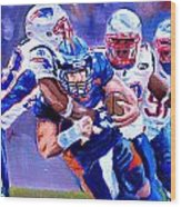 Stopping Tebow Wood Print by Donovan Furin