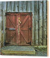 Storage Shed Wood Print by Steven Ainsworth