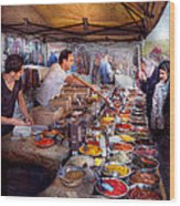 Storefront - The Open Air Tea And Spice Market  Wood Print
