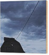 Storm Acoming Wood Print by Todd Sherlock