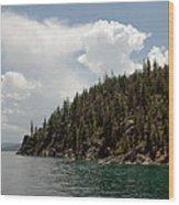 Storm Ahead Lake Tahoe Wood Print