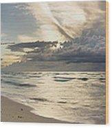 Storm Approaches Miami Beach Wood Print by Matt Tilghman