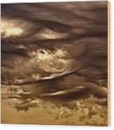 Storm Approaches Wood Print