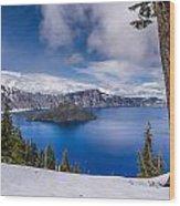 Storm Clearing At Crater Lake Wood Print