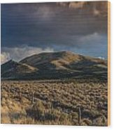 Storm Clearing Over Great Basin Wood Print