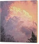 Storm Cloud Moving In On West Michigan Wood Print