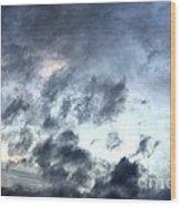 Storm Clouds At Dawn Wood Print