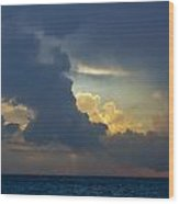 Storm Clouds At Sunset Over Lake Michigan Wood Print